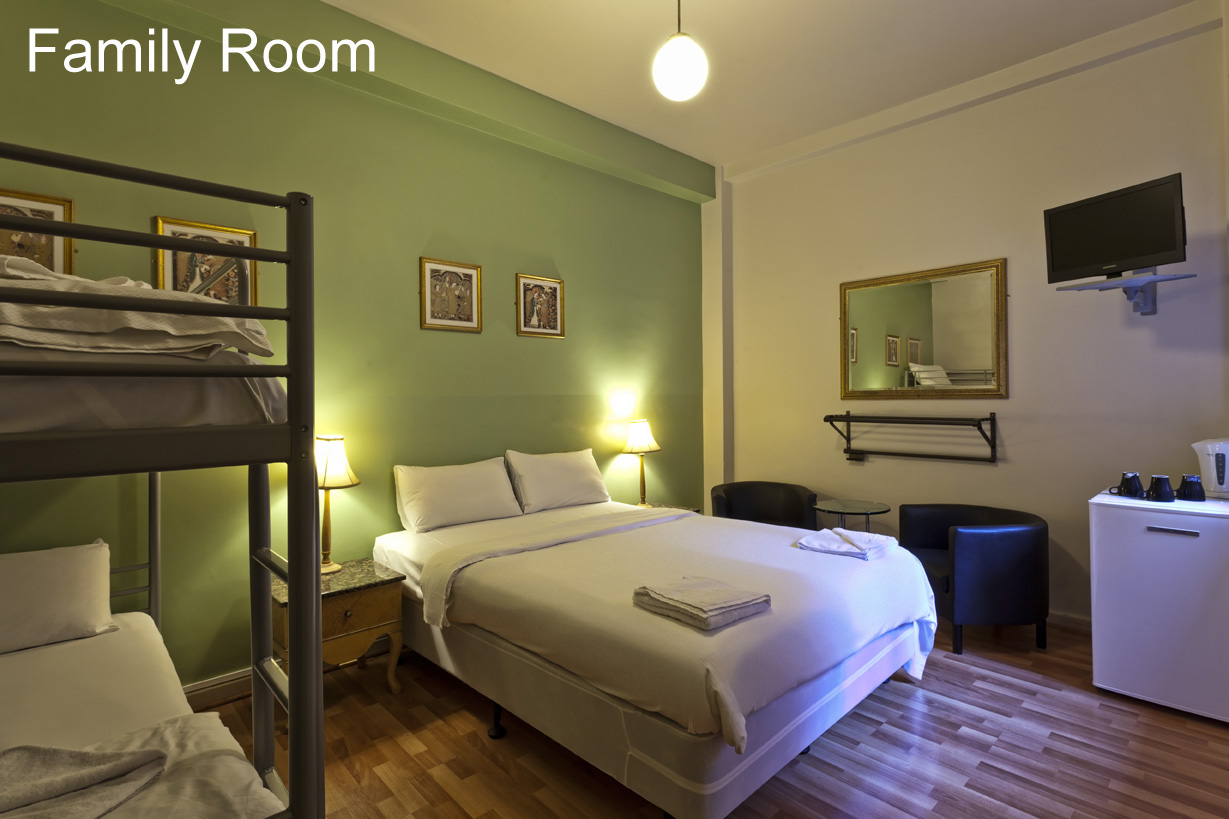 City Centre Budget Hotel, Family Room - for 3-4 people - click to see an enlarged version of this image