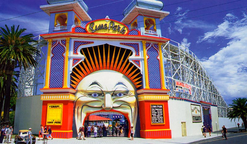 Luna Park in St. Kilda - click to see an enlarged version of this image