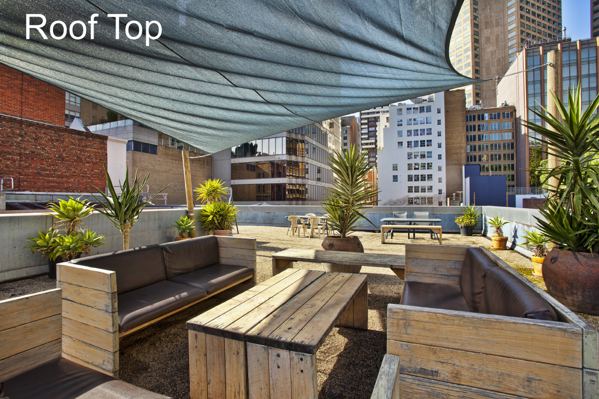 City Centre Budget Hotel, Roof Top Terrace Garden - click to see an enlarged version of this image