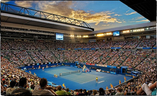 Australian Tennis Open in Melbourne at the Rod Laver Arena - click to see an enlarged version of this image